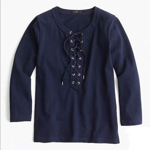 J.Crew Navy Lace Shirt